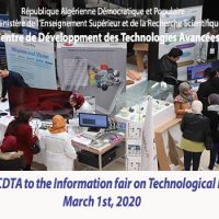 PARTICIPATION OF THE CDTA TO THE INFORMATION FAIR ON TECHNOLOGICAL PLATFORMS. March 1st, 2020